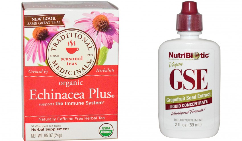 Treating Infection With Grapefruit Seed Extract GSE Echinacea Herb